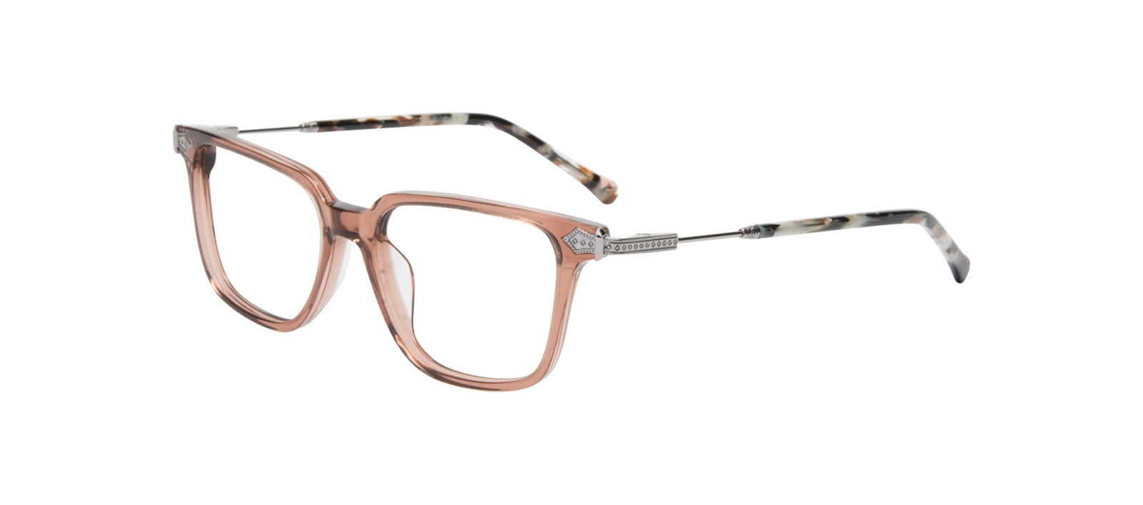 Lunettes tendance Carrée Lunettes de vue Femmes Twinkle Truffle Rose Incliné