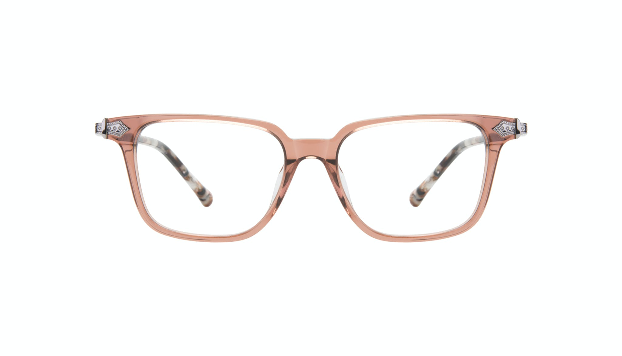 Affordable Fashion Glasses Square Eyeglasses Women Twinkle Truffle Rose