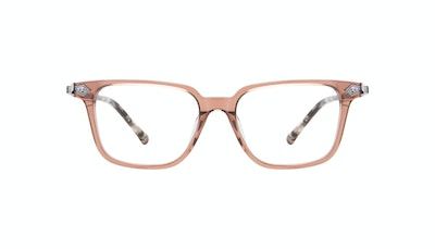 Affordable Fashion Glasses Square Eyeglasses Women Twinkle Truffle Rose Front