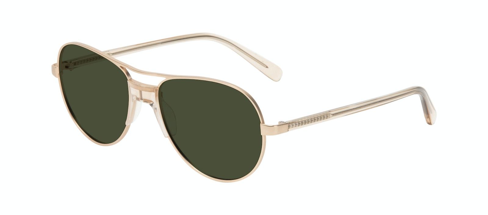 Affordable Fashion Glasses Aviator Sunglasses Women Ultimate Gold Tilt
