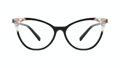 Affordable Fashion Glasses Cat Eye Eyeglasses Women Unreal Black Stone Front
