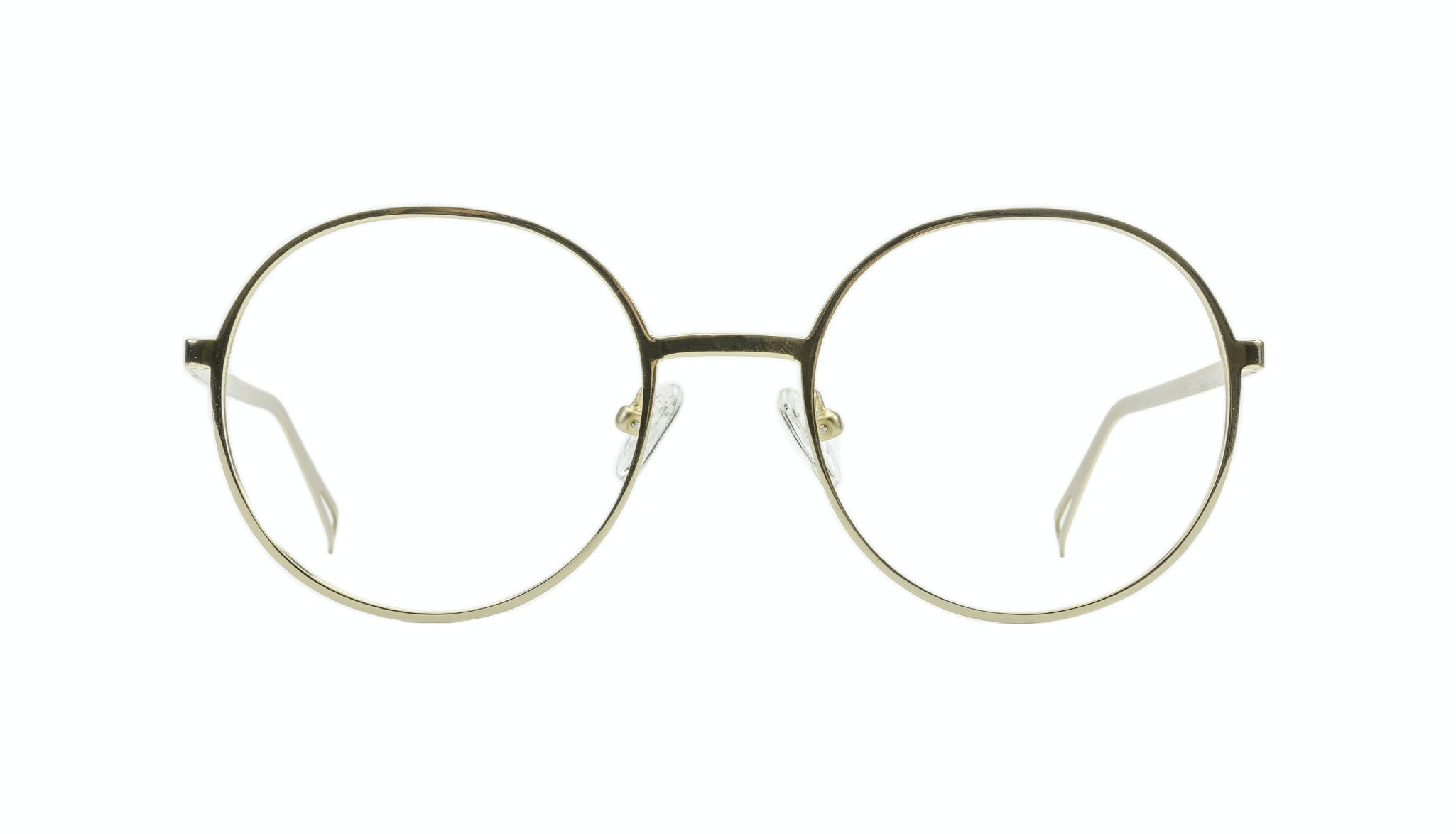 Affordable Fashion Glasses Round Eyeglasses Men Women Varna Gold Front