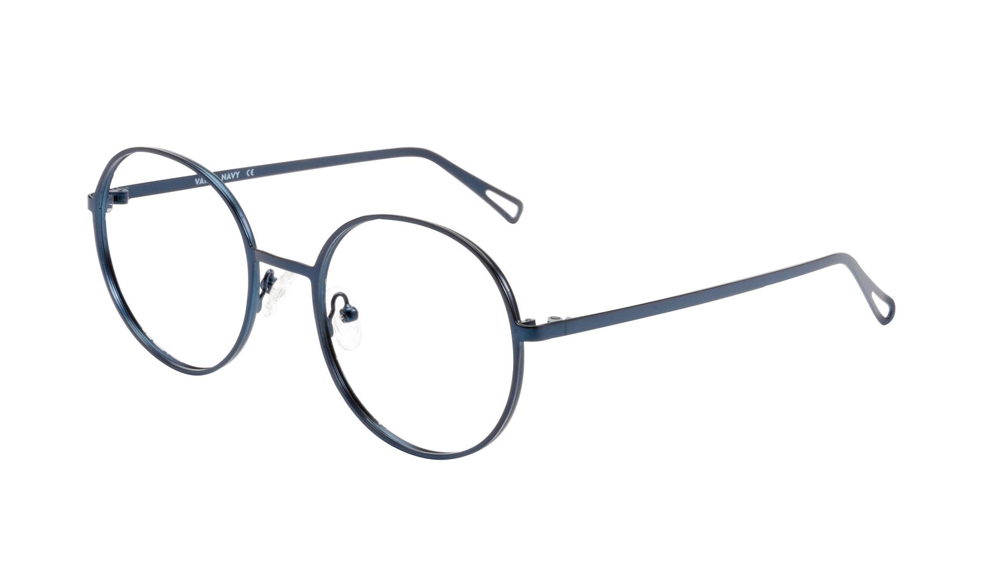 Affordable Fashion Glasses Round Eyeglasses Men Women Varna Navy Tilt