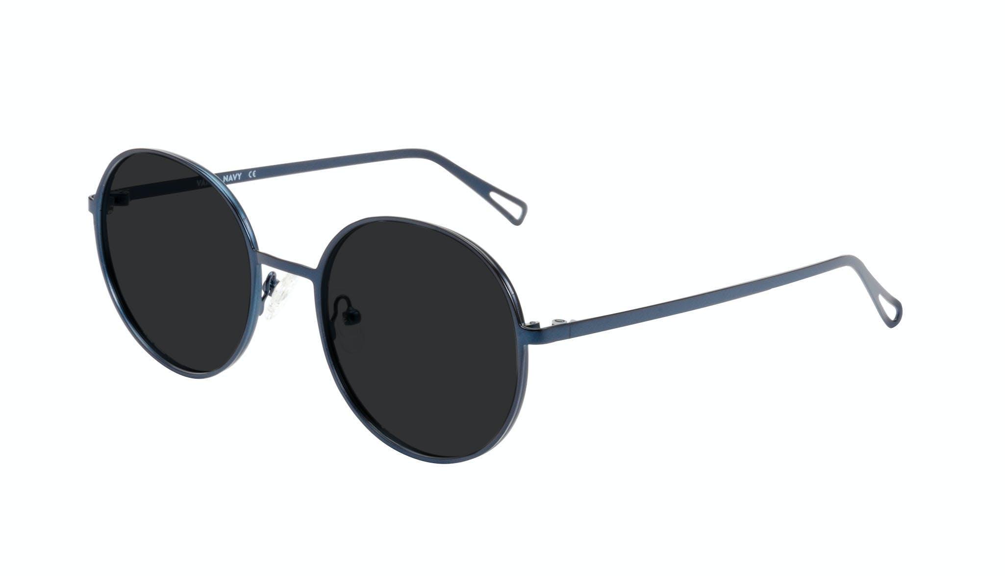 Affordable Fashion Glasses Round Sunglasses Men Women Varna Navy Tilt