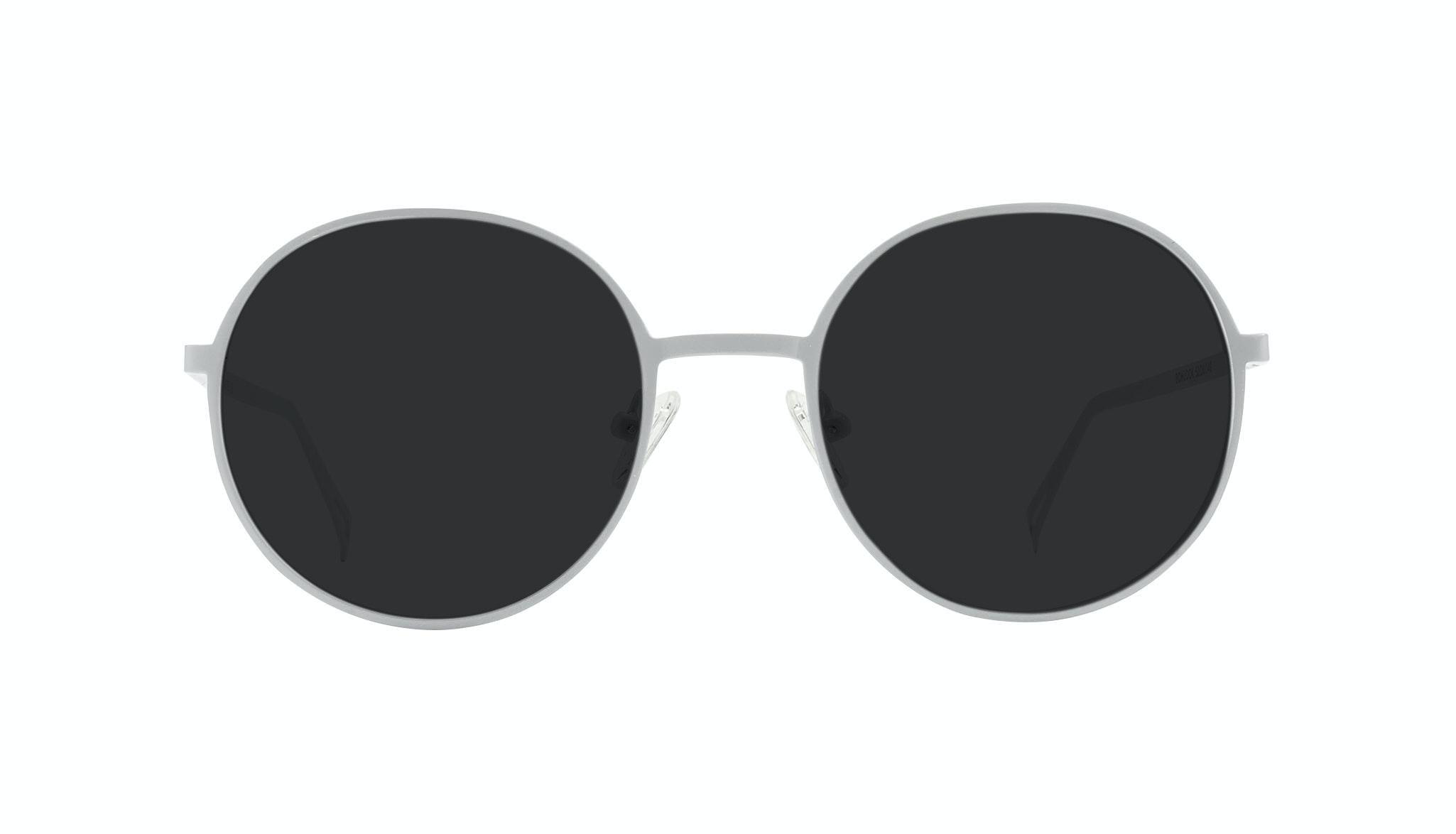 Affordable Fashion Glasses Round Sunglasses Men Women Varna White Front