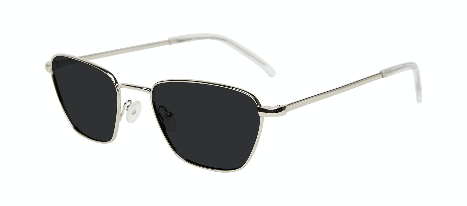 Affordable Fashion Glasses Square Sunglasses Women Venice Silver Tilt