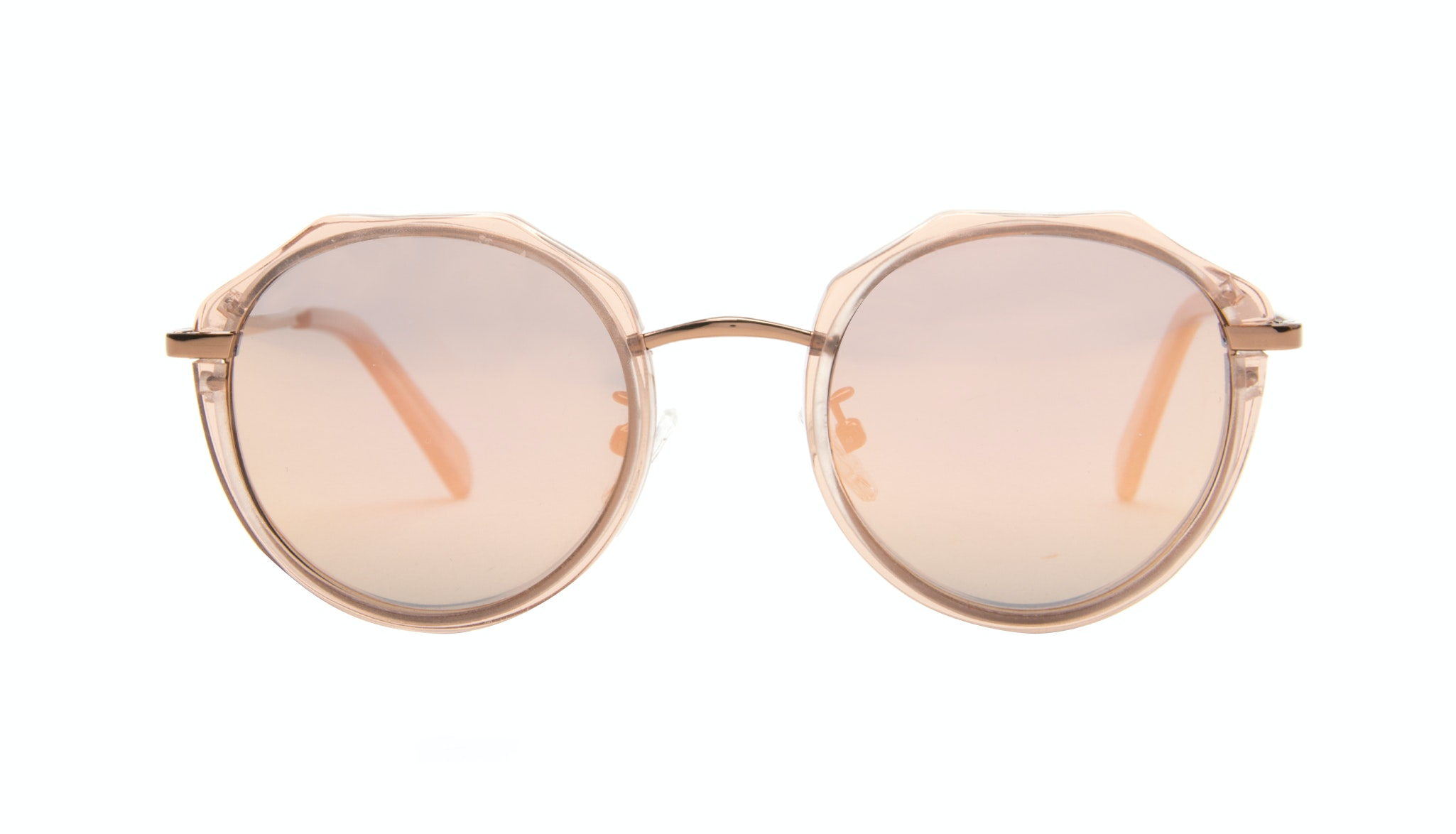 Affordable Fashion Glasses Round Sunglasses Women Vitality Rose