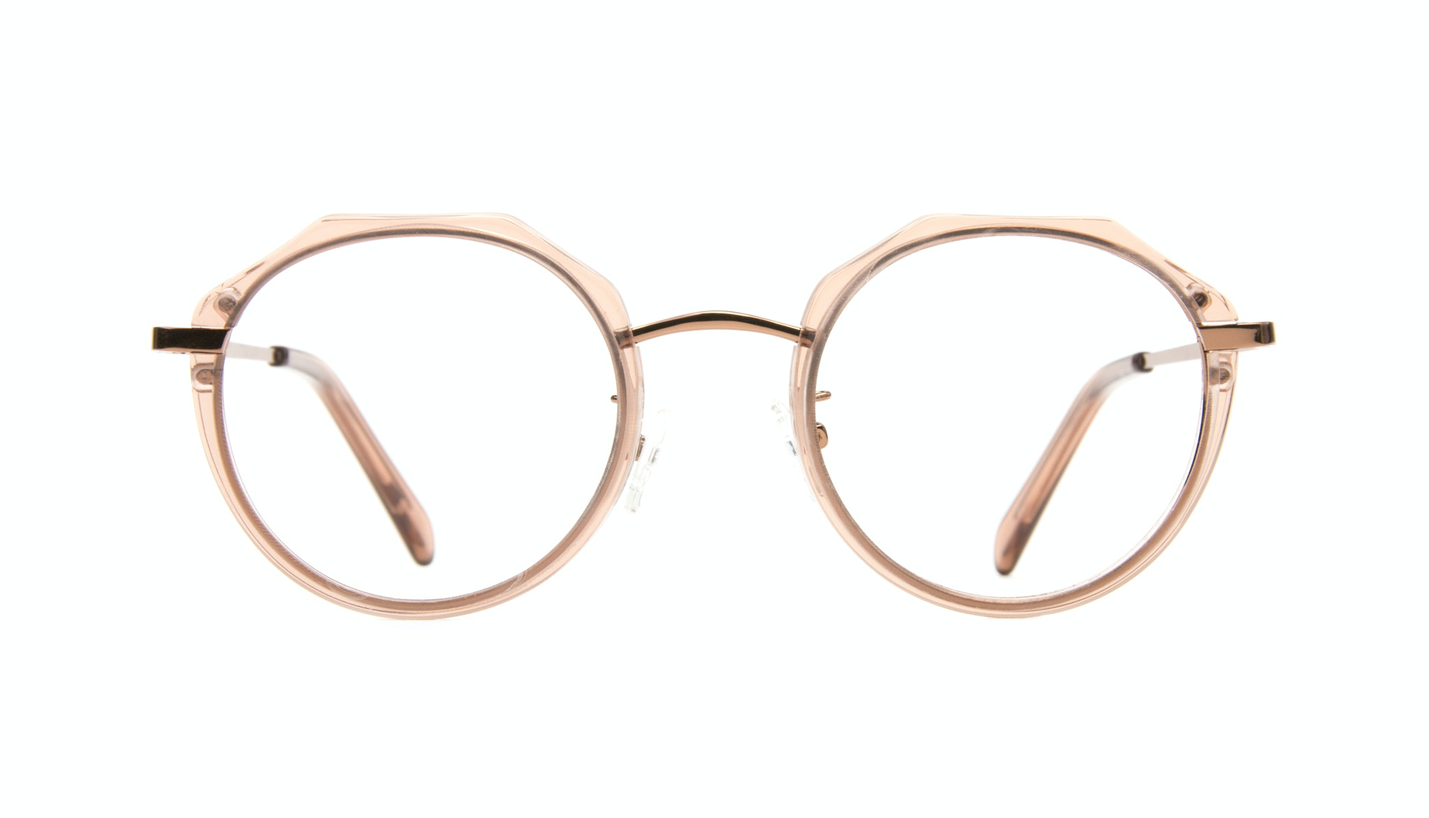 Affordable Fashion Glasses Round Eyeglasses Women Vitality Rose