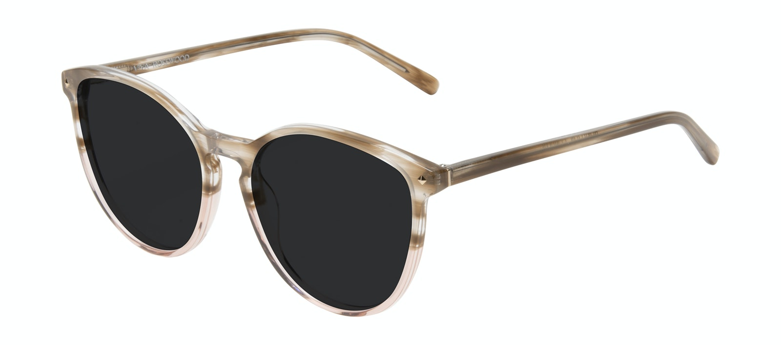 Affordable Fashion Glasses Round Sunglasses Women Viva Rosewood Tilt