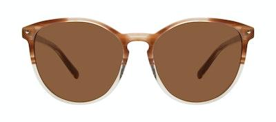 Affordable Fashion Glasses Round Sunglasses Women Viva Tan Front