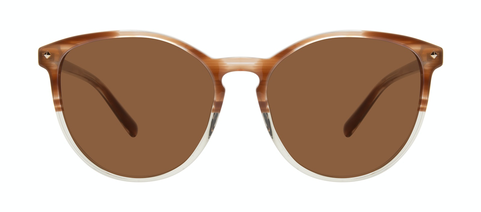 Affordable Fashion Glasses Round Sunglasses Women Viva Tan Front