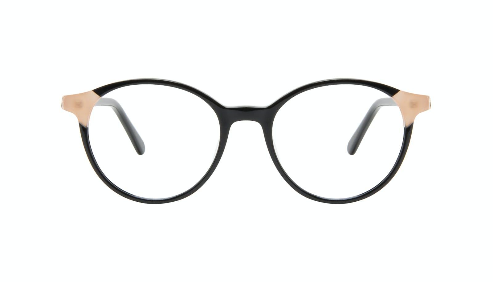 3d383206b0 Affordable Fashion Glasses Round Eyeglasses Women Vivid Black Ivory
