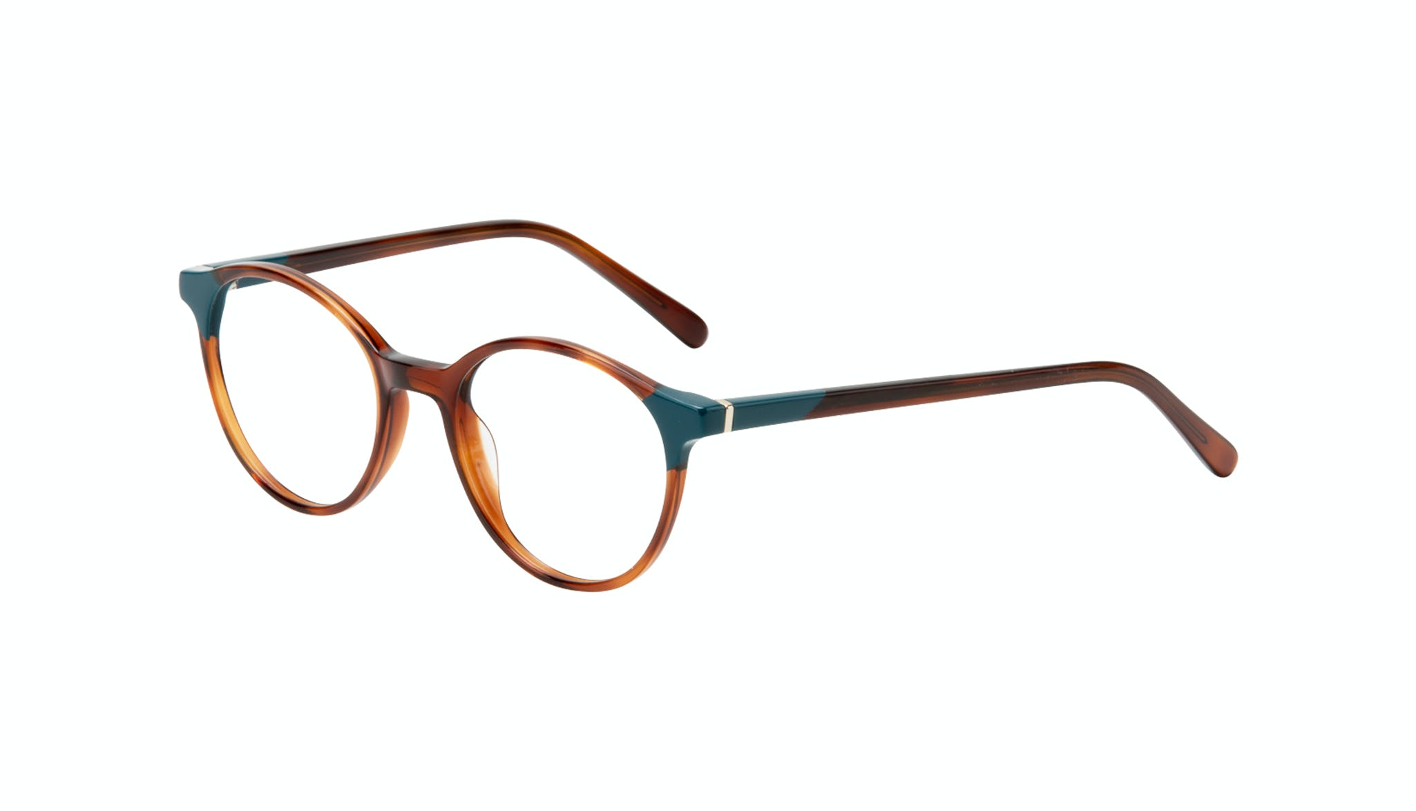 Affordable Fashion Glasses Round Eyeglasses Women Vivid Teal Tort Tilt