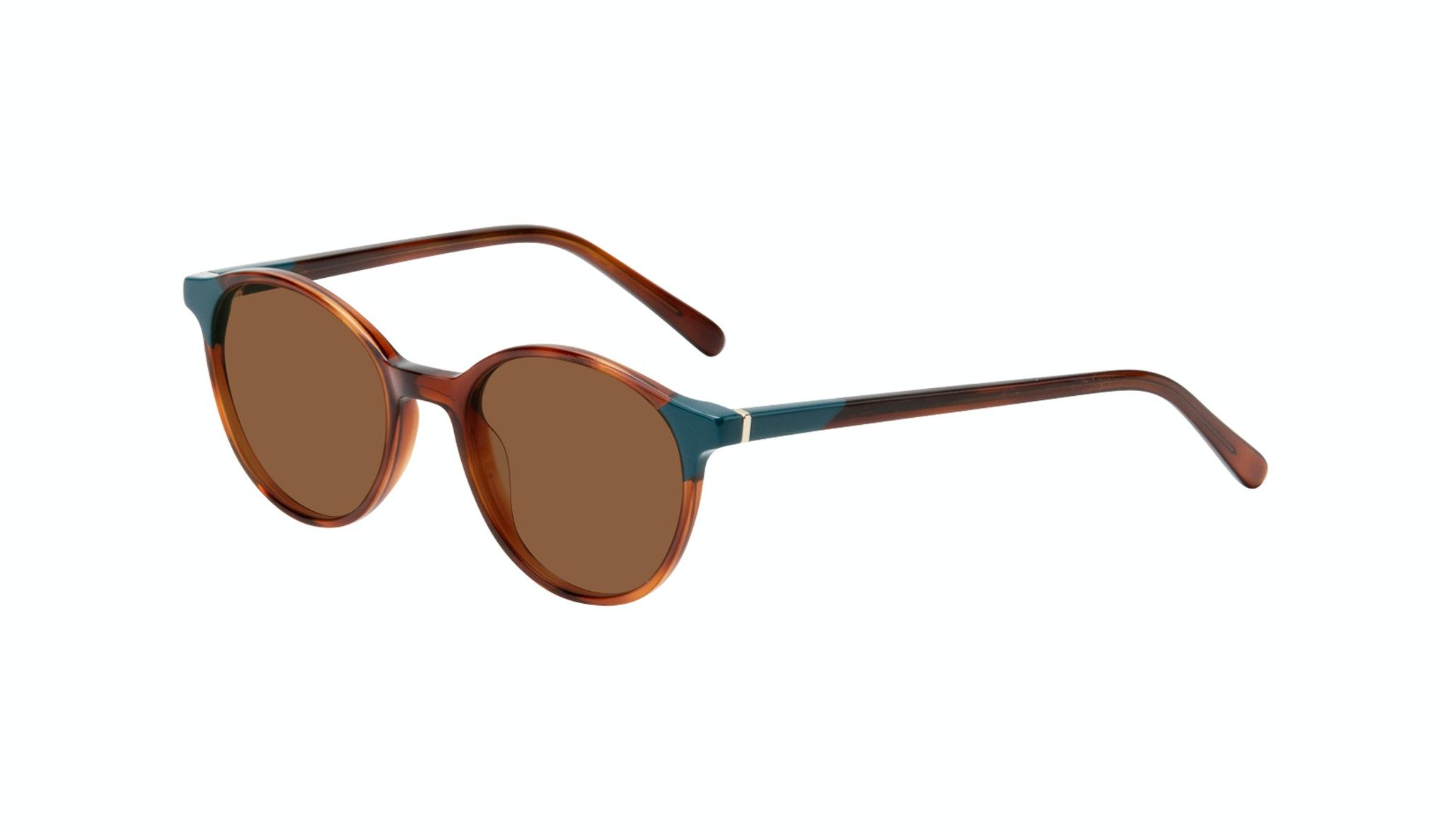 Affordable Fashion Glasses Round Sunglasses Women Vivid Teal Tort Tilt
