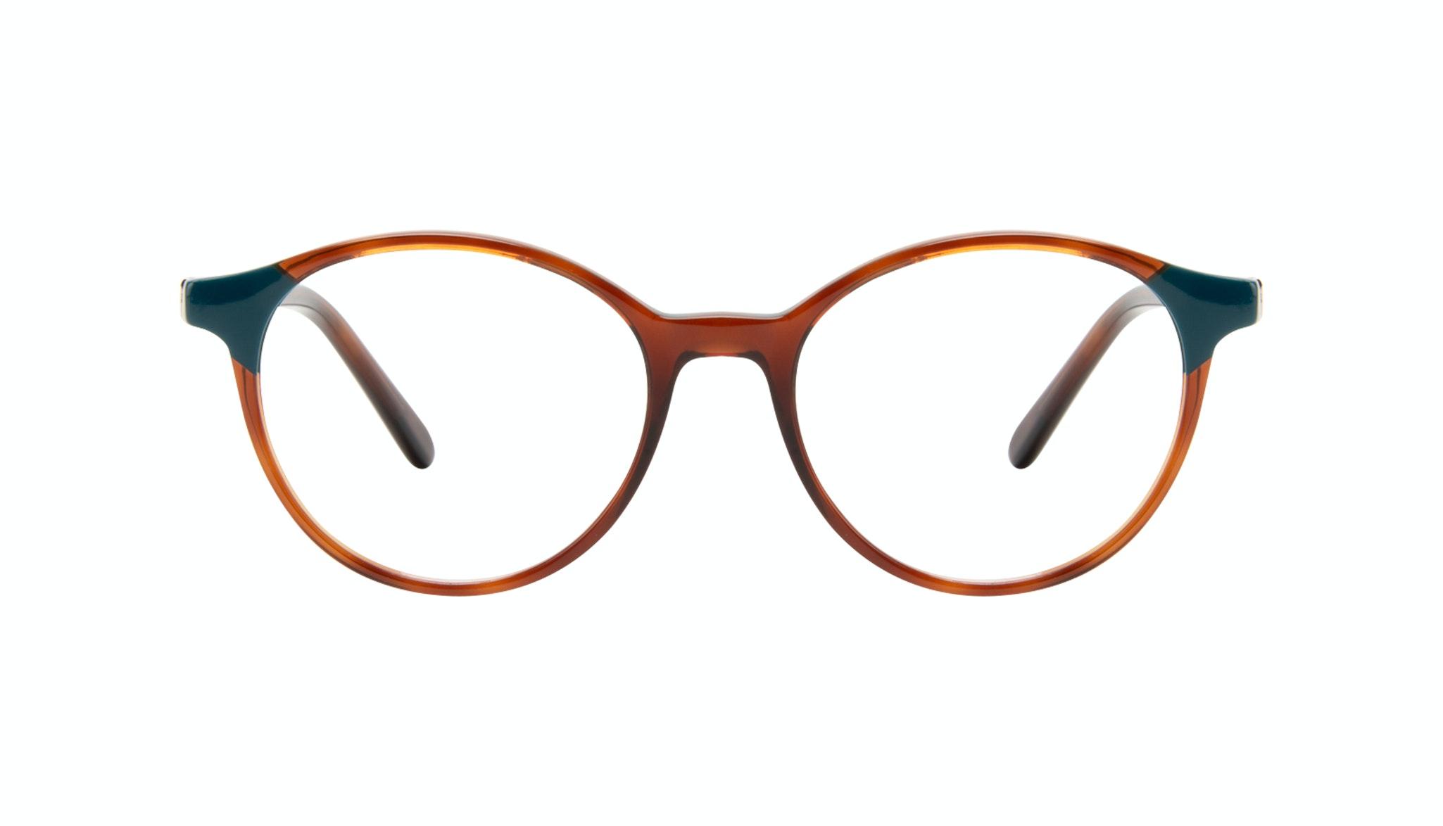 Affordable Fashion Glasses Round Eyeglasses Women Vivid Teal Tort Front