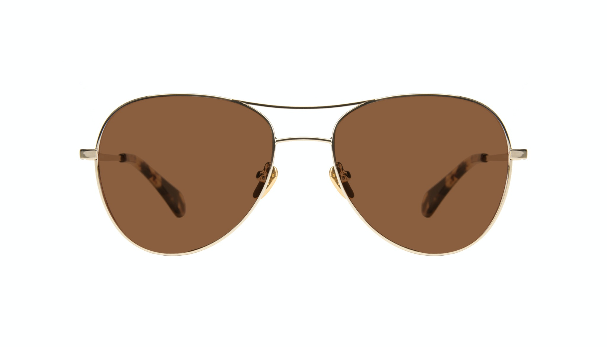 Affordable Fashion Glasses Aviator Sunglasses Women Want Gold Front