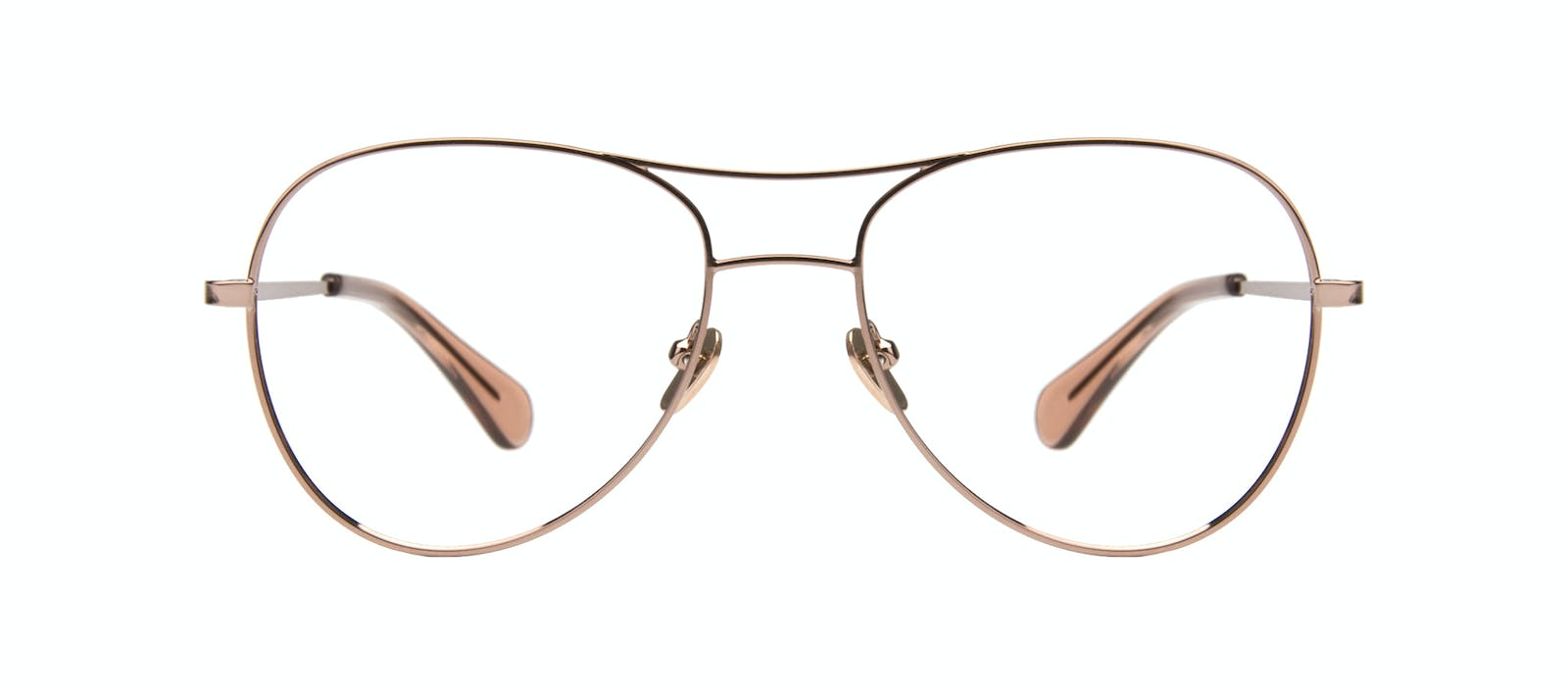 fa53a4ff6c Affordable Fashion Glasses Aviator Eyeglasses Women Want Rose Gold Front