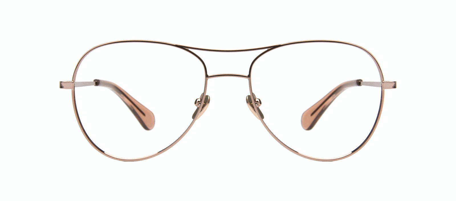 Affordable Fashion Glasses Aviator Eyeglasses Women Want Rose Gold Front