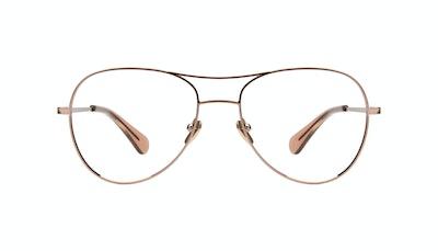 Affordable Fashion Glasses Aviator Eyeglasses Women Want Rose Gold Front