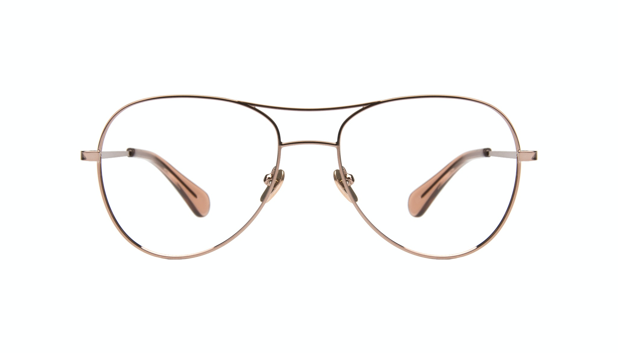 Affordable Fashion Glasses Aviator Eyeglasses Women Want Rose Gold