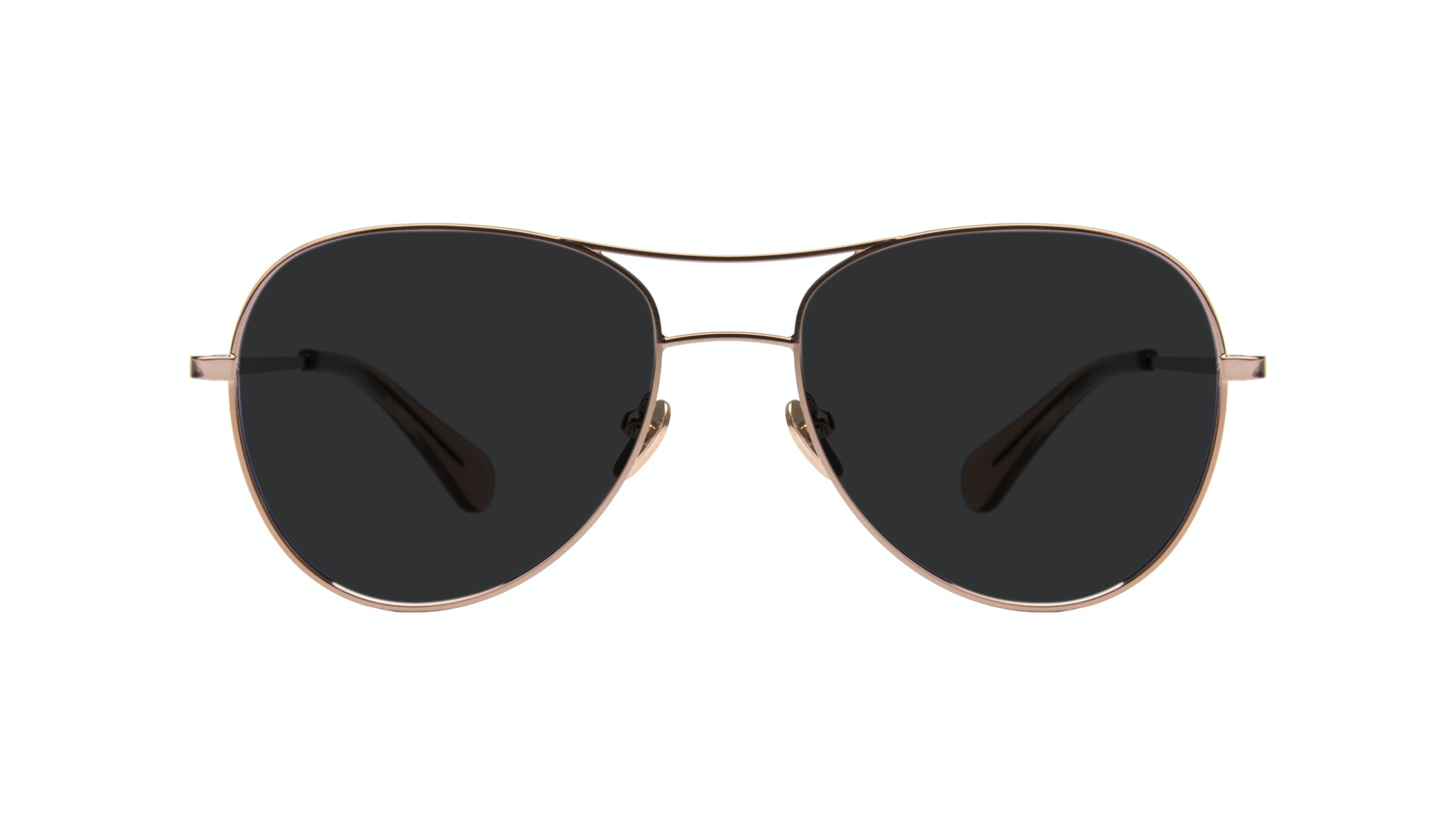 Affordable Fashion Glasses Aviator Sunglasses Women Want Rose Gold Front