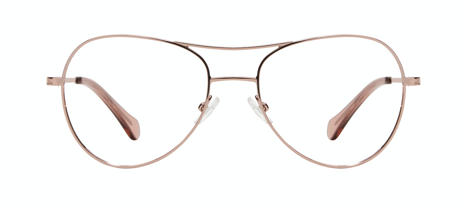 Affordable Fashion Glasses Aviator Eyeglasses Women Want M Rose Gold Front