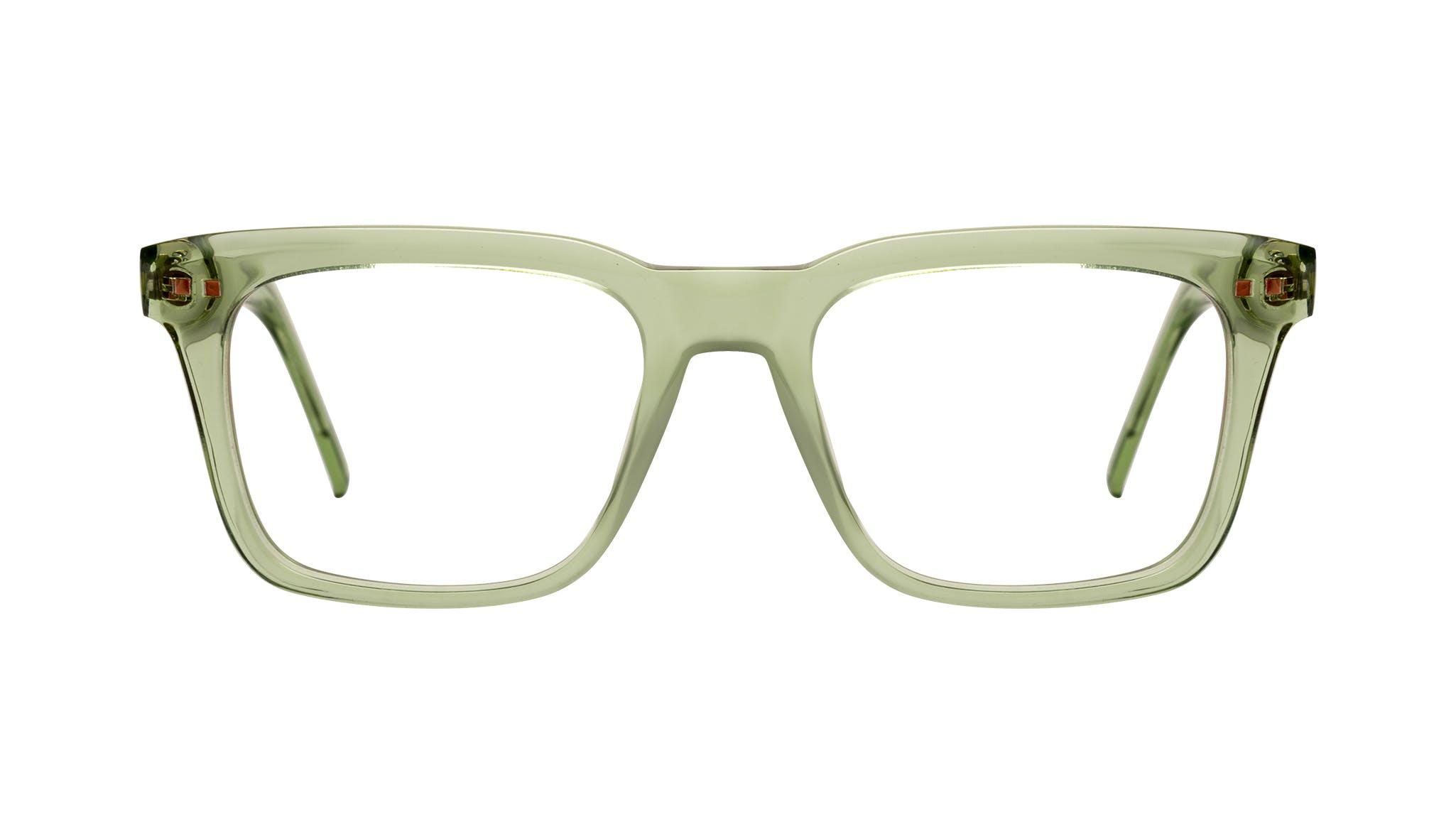 Affordable Fashion Glasses Square Eyeglasses Men Well Olive Front