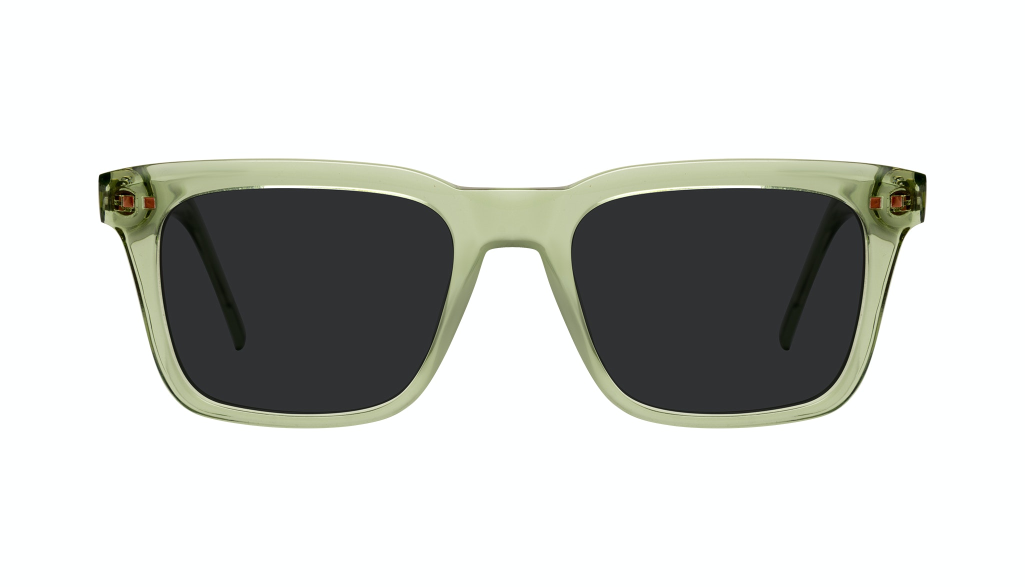 Affordable Fashion Glasses Square Sunglasses Men Well Olive Front