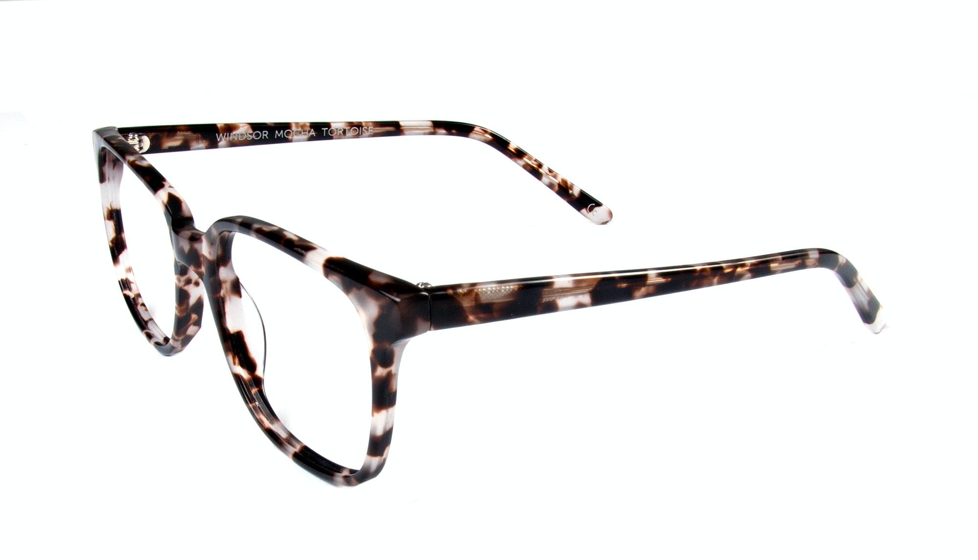Affordable Fashion Glasses Rectangle Square Eyeglasses Women Windsor Mocha Tortoise Tilt
