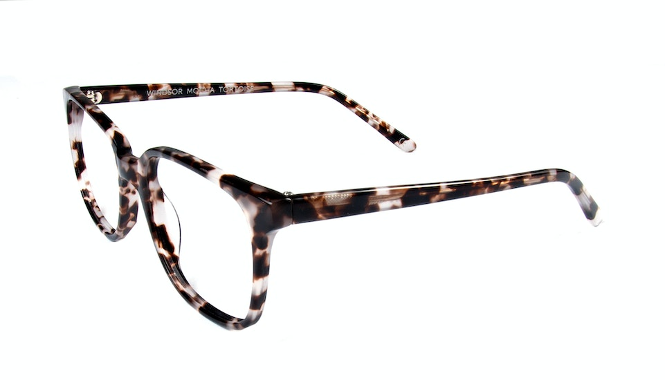 Affordable Fashion Glasses Square Eyeglasses Men Women Windsor Mocha Tortoise Tilt