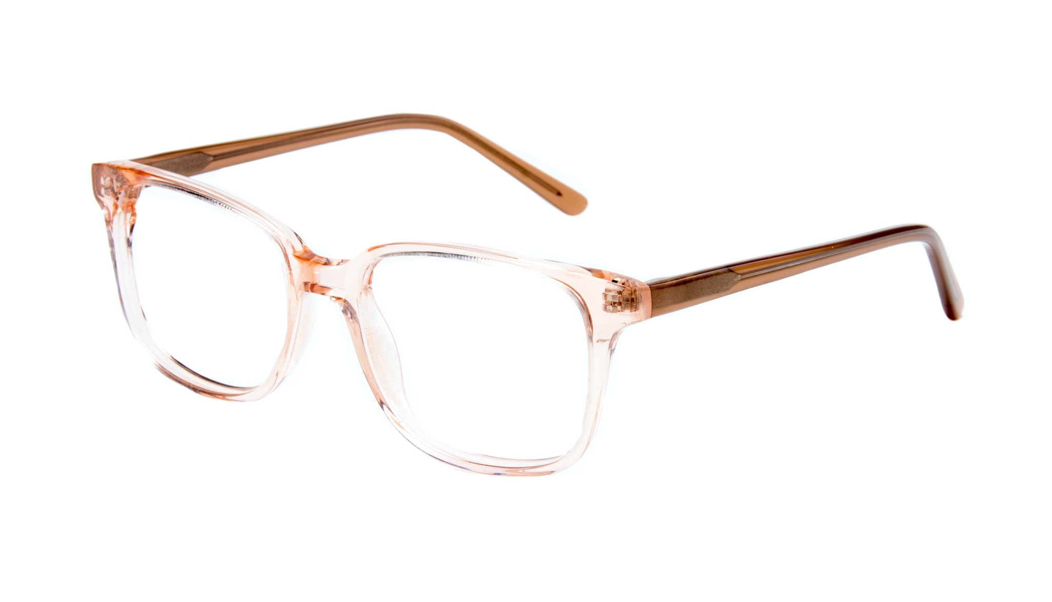 Affordable Fashion Glasses Rectangle Square Eyeglasses Women Windsor Pink Metal Tilt