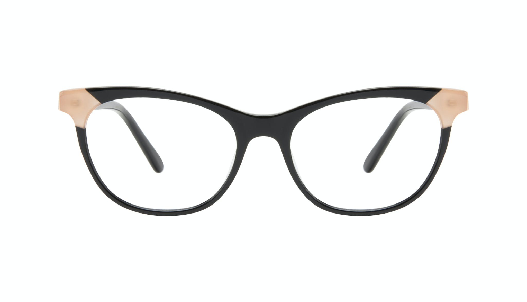Affordable Fashion Glasses Cat Eye Eyeglasses Women Witty Black Ivory Front