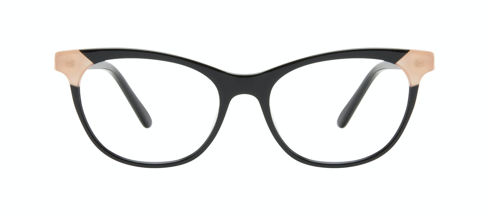 b3cf30e7f4 Affordable Fashion Glasses Cat Eye Eyeglasses Women Witty Black Ivory Front