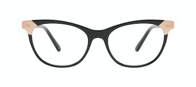 Affordable Fashion Glasses Cat Eye Eyeglasses Women Witty Black Ivory Front