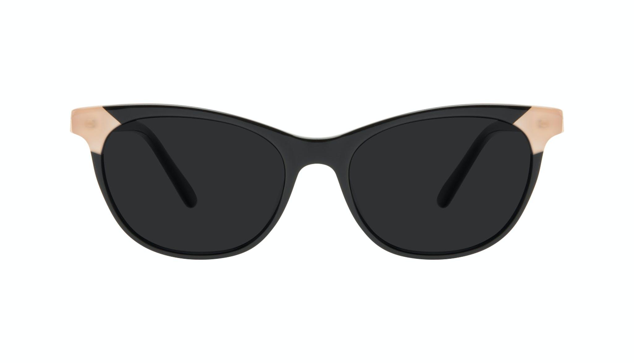 Lunettes tendance Oeil de chat Lunettes de soleil Femmes Witty Black Ivory