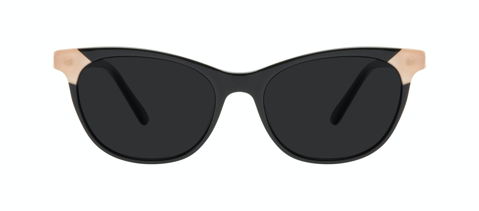 c029ebb6d0 Affordable Fashion Glasses Cat Eye Sunglasses Women Witty Black Ivory Front