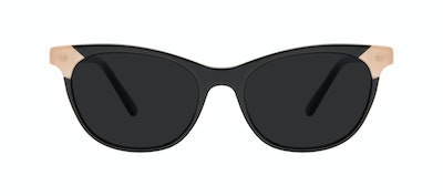 Affordable Fashion Glasses Cat Eye Sunglasses Women Witty Black Ivory Front
