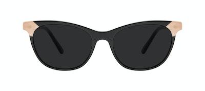 Lunettes tendance Oeil de chat Lunettes de soleil Femmes Witty Black Ivory Face