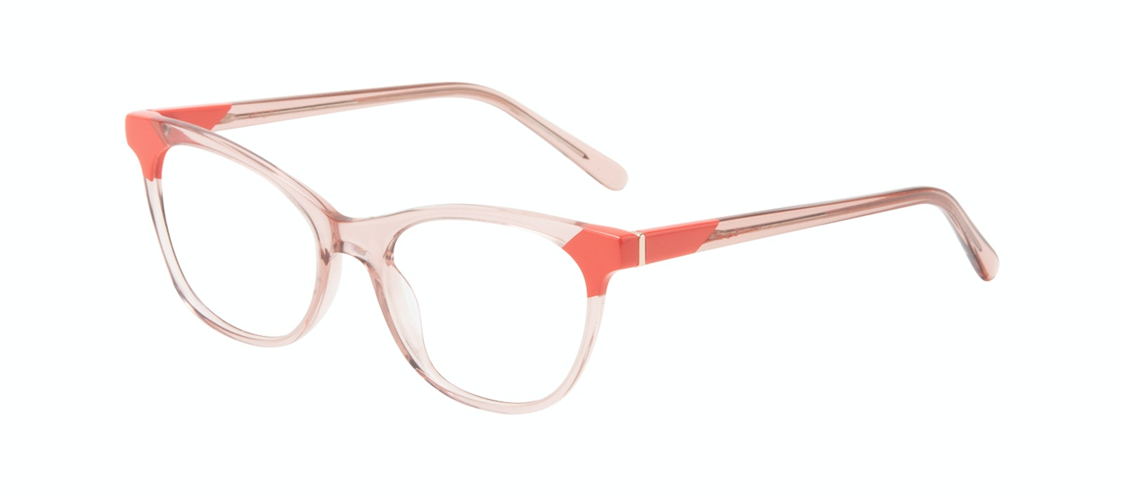 Affordable Fashion Glasses Cat Eye Eyeglasses Women Witty Pink Coral Tilt