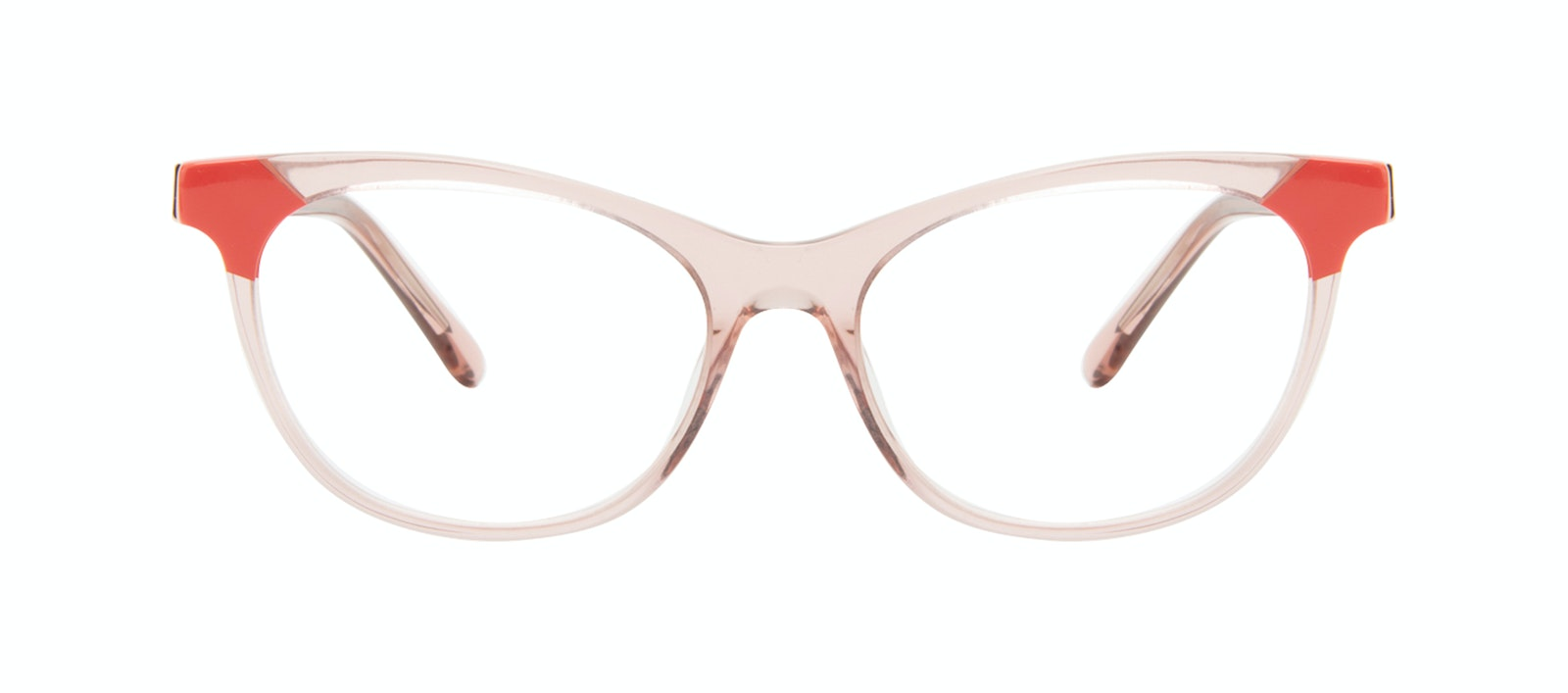 Affordable Fashion Glasses Cat Eye Eyeglasses Women Witty Pink Coral Front