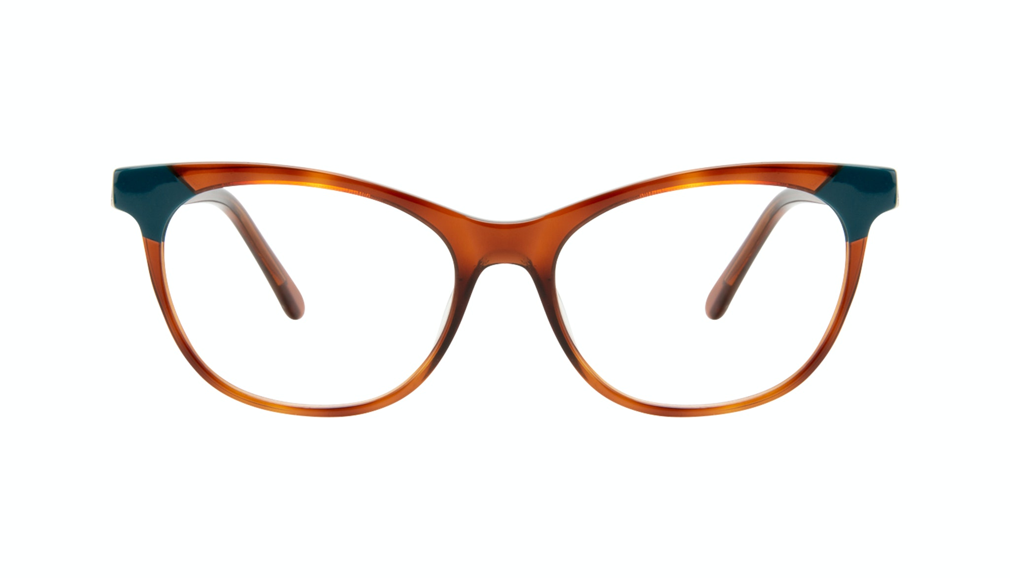 Affordable Fashion Glasses Cat Eye Eyeglasses Women Witty Teal Tort Front