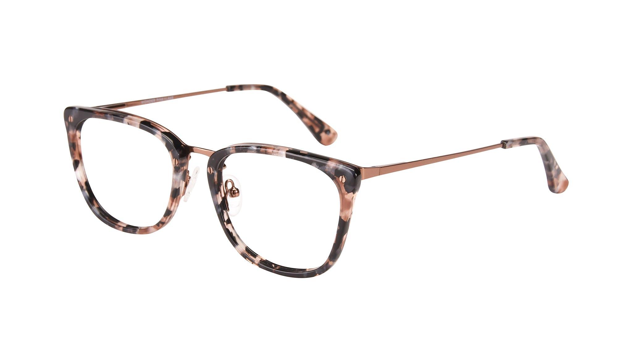 Affordable Fashion Glasses Rectangle Eyeglasses Women Wonder Pink Flake Tilt