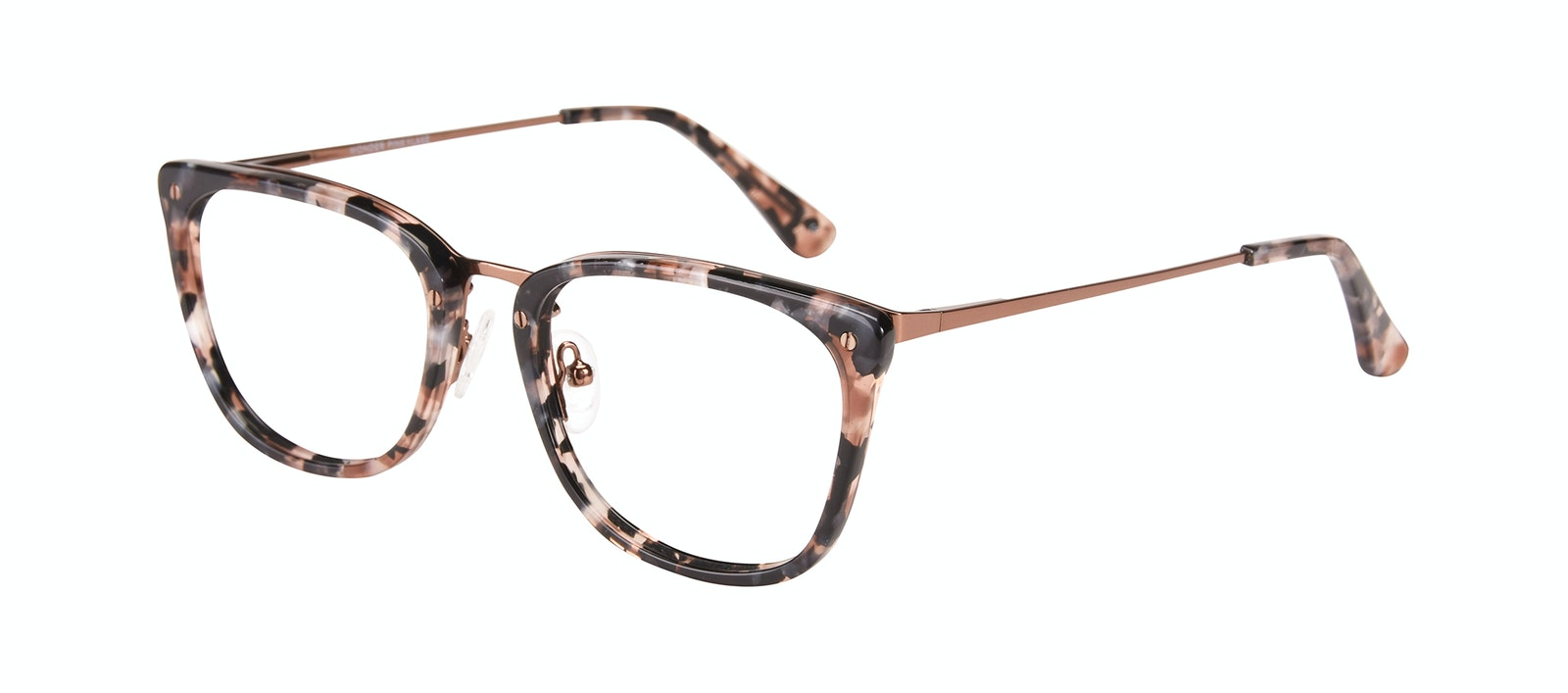Affordable Fashion Glasses Rectangle Eyeglasses Women Wonder Pink Flake Tilt