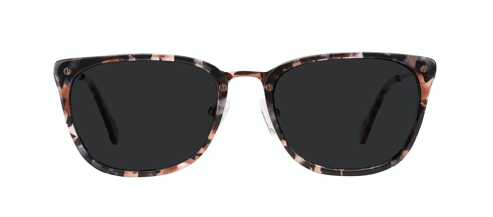 Affordable Fashion Glasses Rectangle Sunglasses Women Wonder Pink Flake Front
