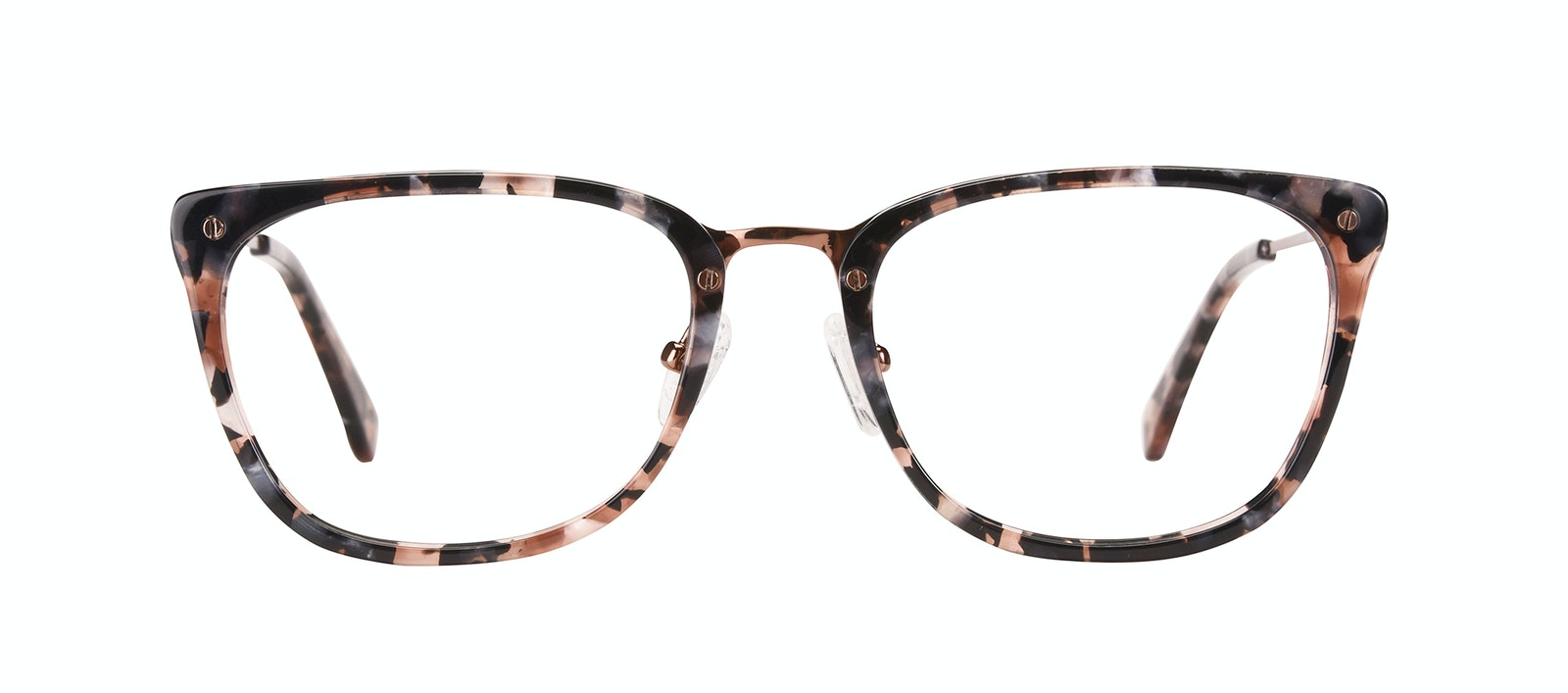 Affordable Fashion Glasses Rectangle Eyeglasses Women Wonder Pink Flake Front