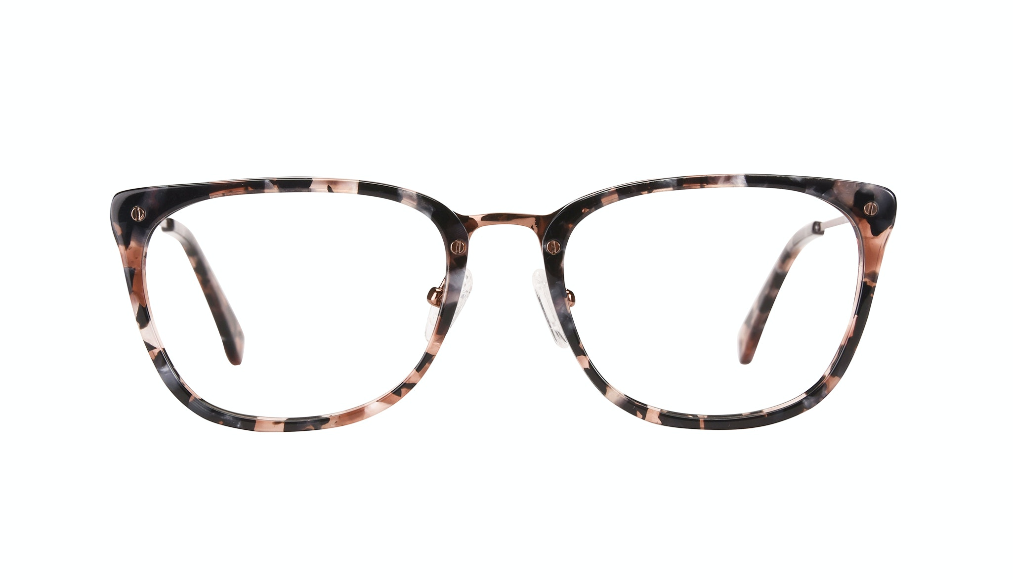 Affordable Fashion Glasses Rectangle Eyeglasses Women Wonder Pink Flake Front