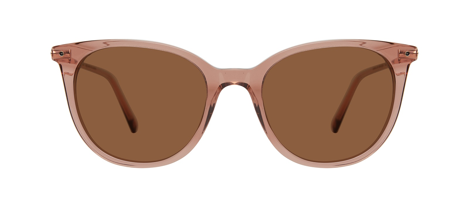 Affordable Fashion Glasses Square Sunglasses Women Wordly Rose Front