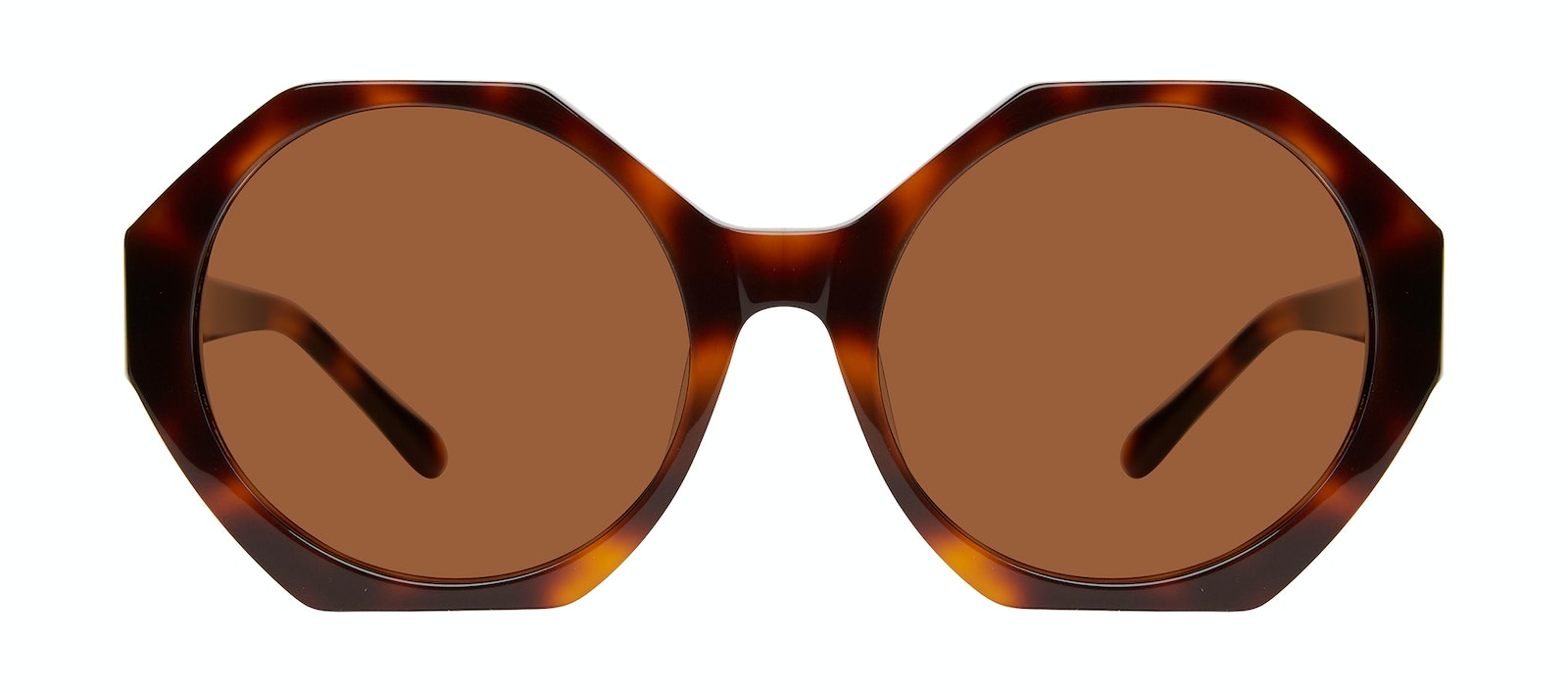 Affordable Fashion Glasses Square Sunglasses Women Zsa Zsa Tortoise Front