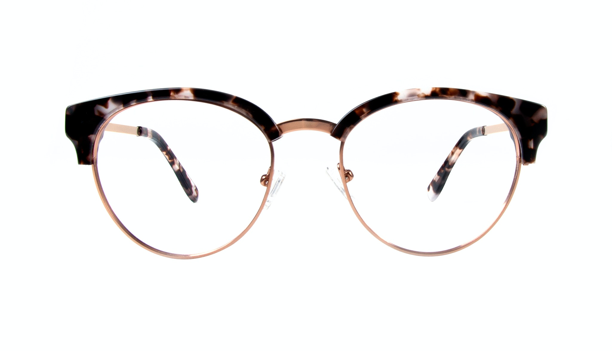 Affordable Fashion Glasses Round Eyeglasses Women Allure Mocha Tortoise Front