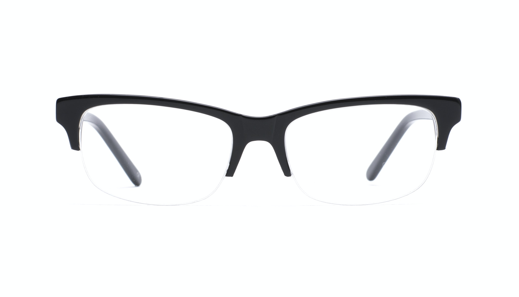 Affordable Fashion Glasses Rectangle Semi-Rimless Eyeglasses Men Atwater Light Onyx